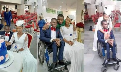 Nigerians react as woman marries a man in a wheelchair in Lagos