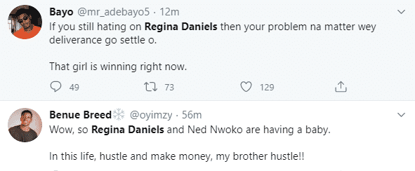 """""""In this life, have money, e get why"""" – Nigerians react to news of Regina Daniels expecting her first child with husband, Ned Nwoko"""
