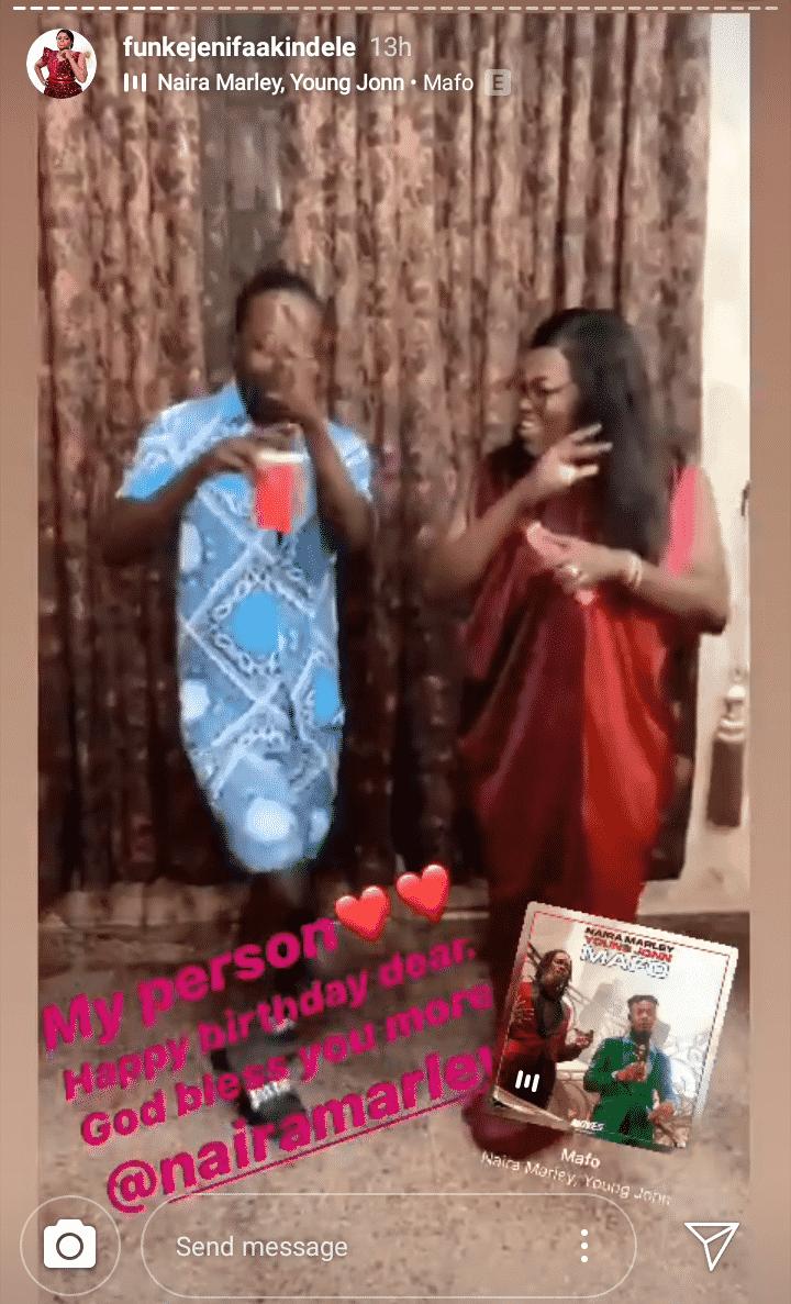 Funke Akindele celebrates Naira Marley