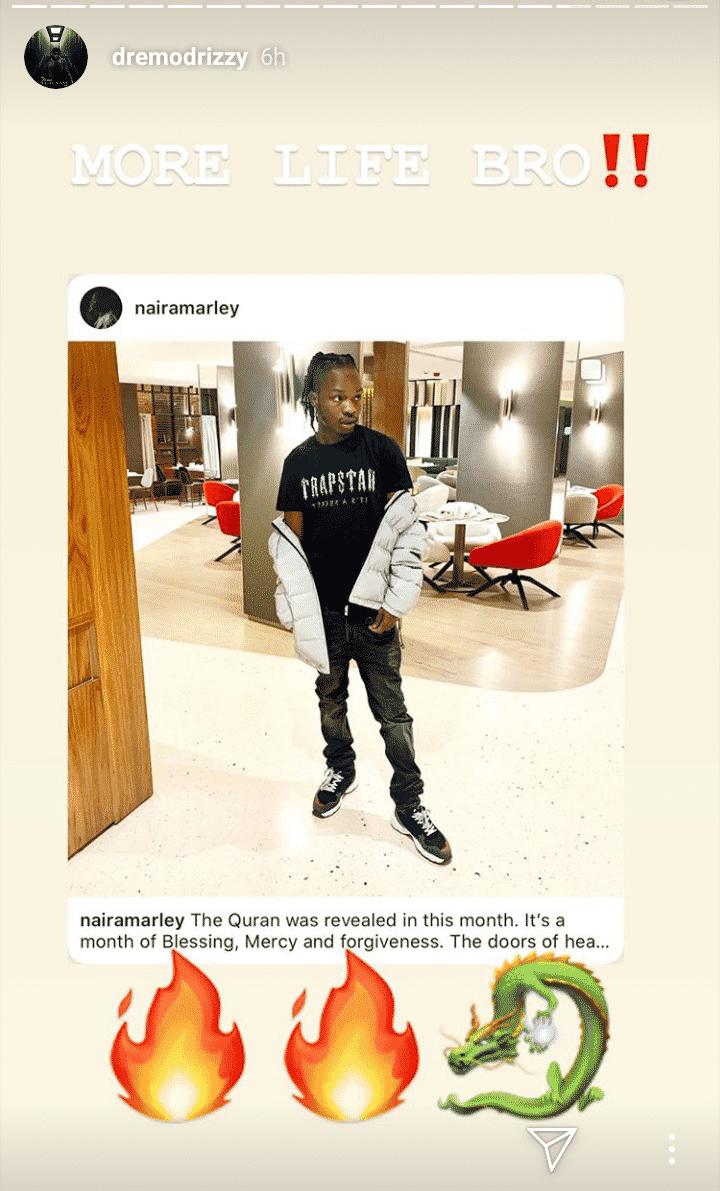 Dremo celebrates Naira Marley