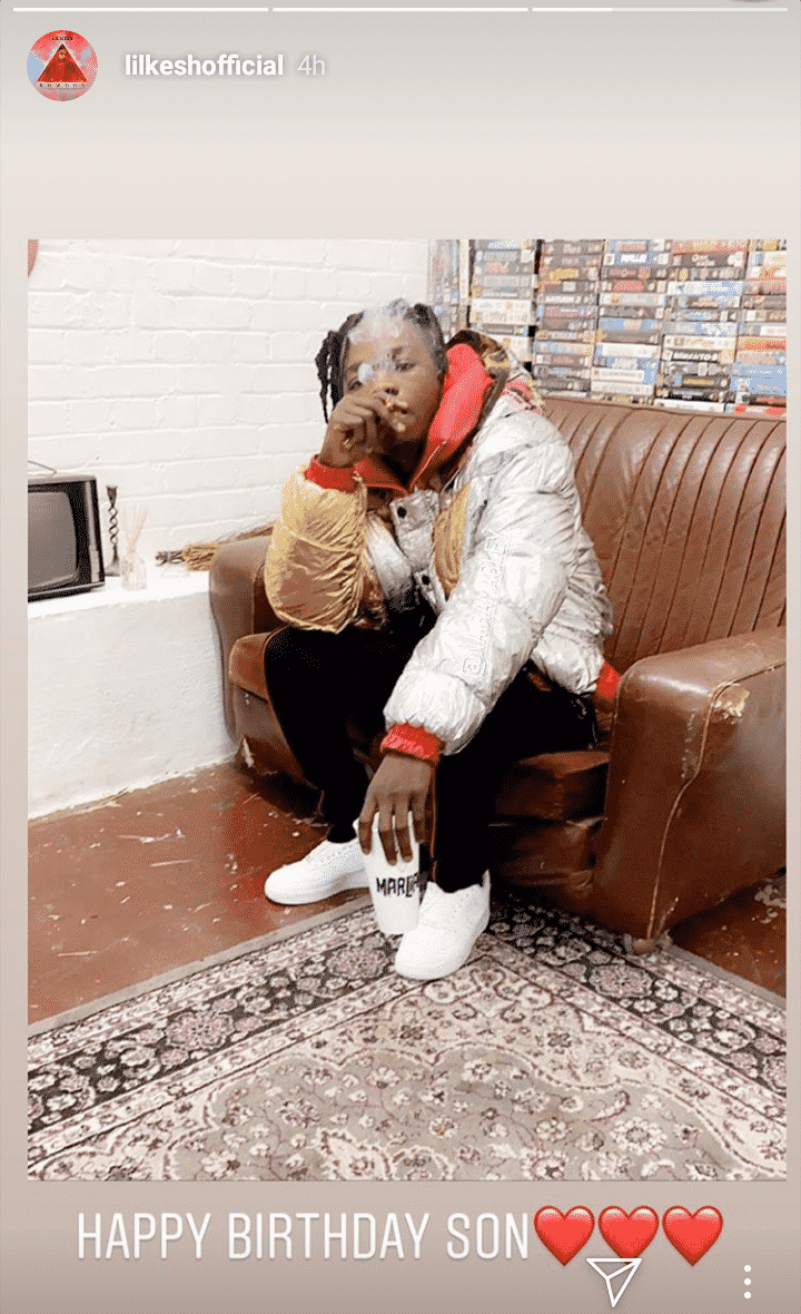 Lil Kesh celebrates Naira Marley