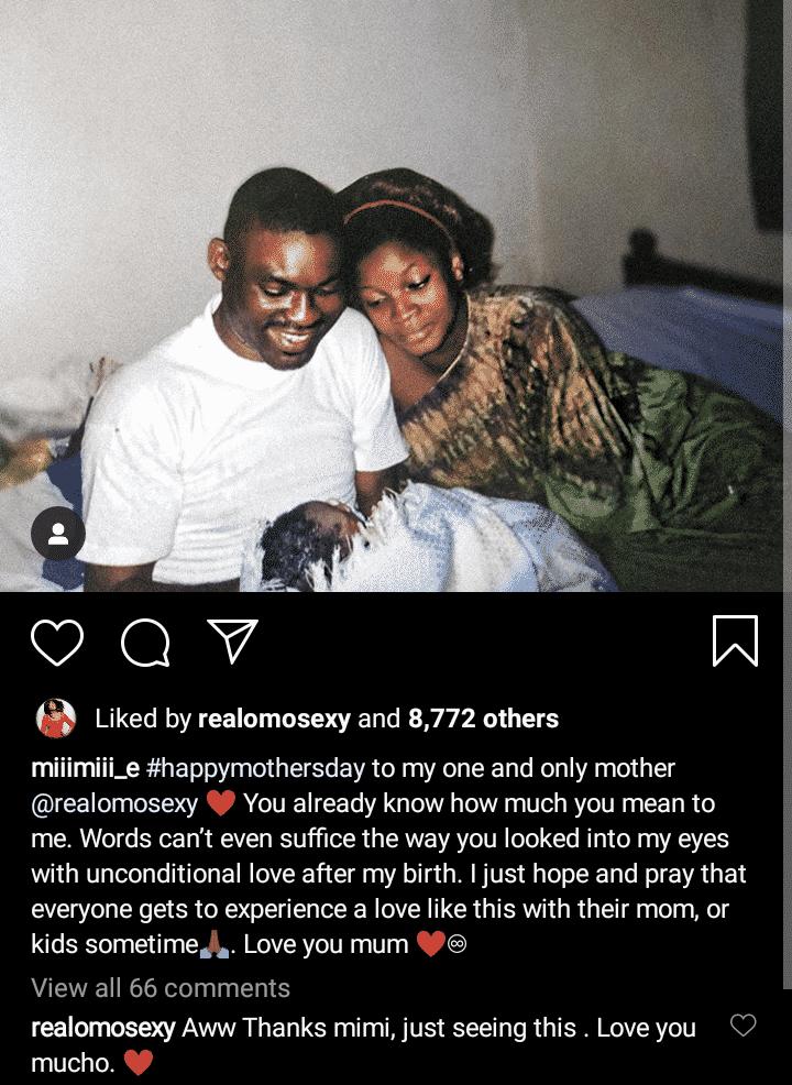 Meraiah celebrates her mum