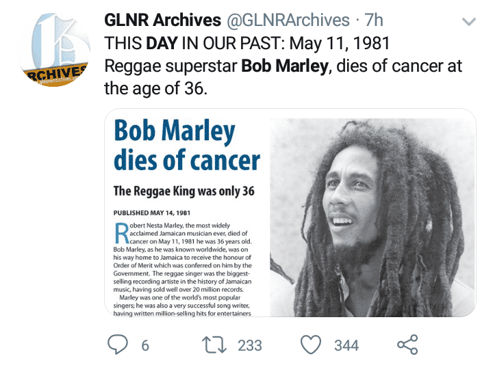 World mourns Bob Marley