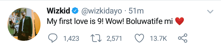 Wizkid celebrates hisson Boluwatife at 9