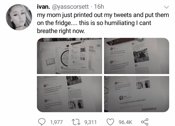 Lady cries out after her mom found her illicit tweets