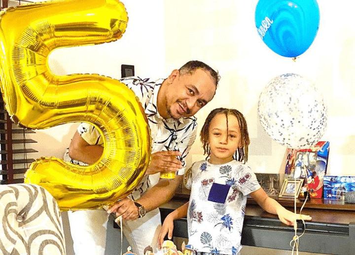 Daddy Freeze celebrates son, Jason as he clocks 5