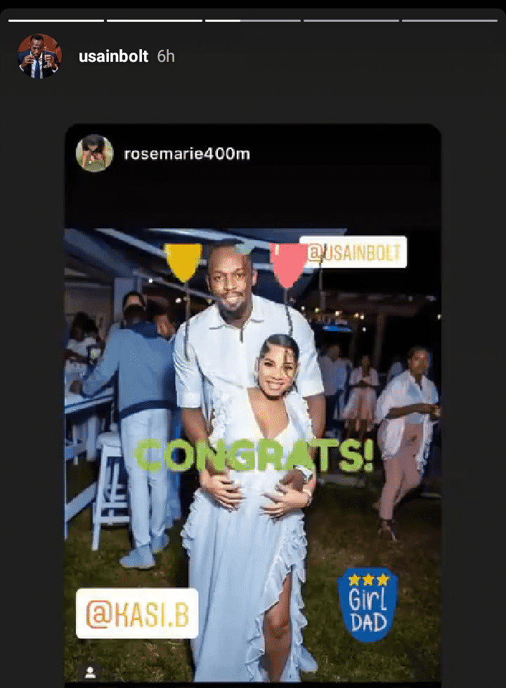 Ussain Bolt confirm birth of his newborn baby girl