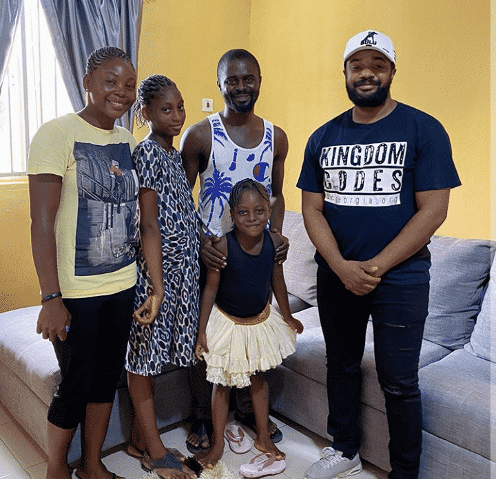 Williams Uchemba builds new house for a family living in a slum