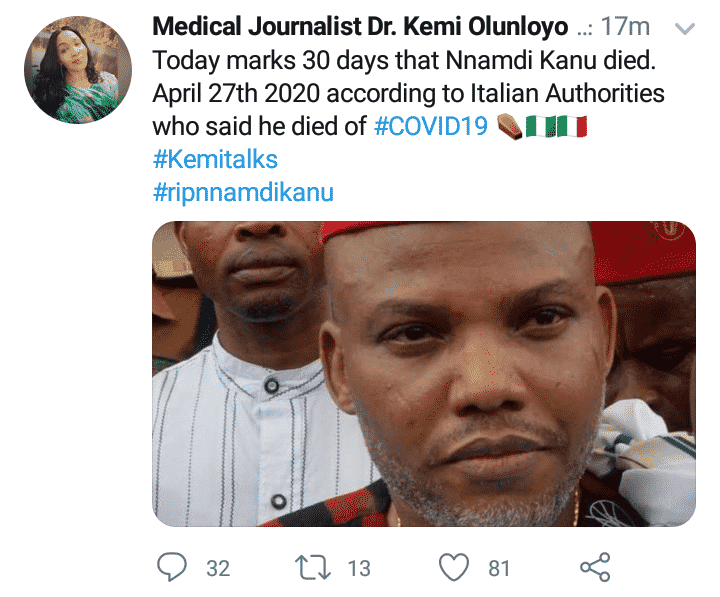 Man designs comic obituary poster for Kemi Olunloyo