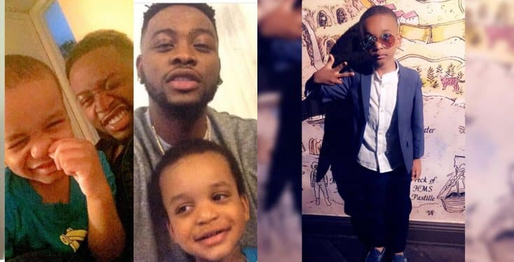 BBNaija star Teddy A celebrates his son as he turns today