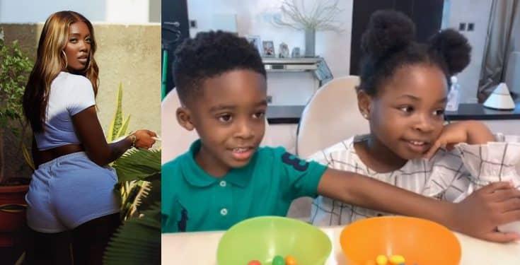 #Fruitsnackchallenge: Tiwa Savage shares video of Jamjam and Imade