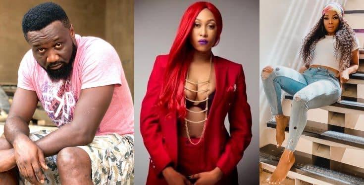 Toke Makinwa reacts after Cynthia Morgan accused Jude Okoye of her career misfortune