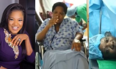 Toyin Abraham marks Mother's Day with emotional video of her childbirth