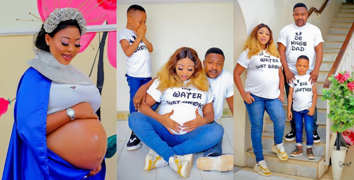 Wunmi Ajiboye and actor Ogungbe welcome new baby on their son's birthday