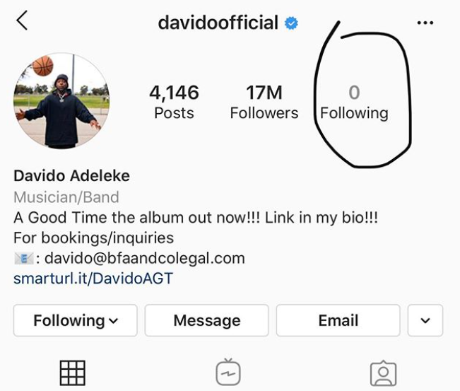 Davido unfollows everyone on Instagram as he stays away from social media, Davido unfollows everyone on Instagram as he stays away from social media, Latest Nigeria News, Daily Devotionals & Celebrity Gossips - Chidispalace
