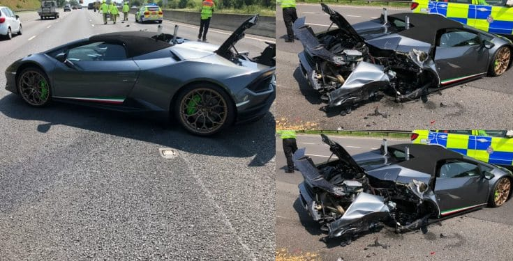 Driver crashes new £200,000 Lamborghini 20 minutes after picking it up from showroom