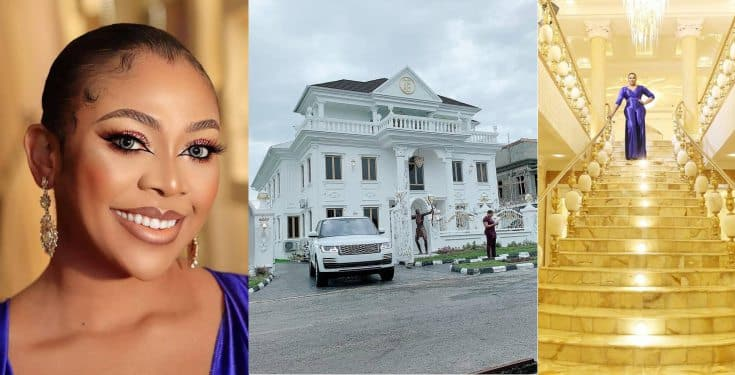Ehi Ogbebor gifts herself a 7-bedroom mansion on her 35th birthday (photos/video)