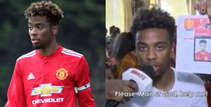 Video of when Man United player Angel Gomes visited TB Joshua for healing surfaces online
