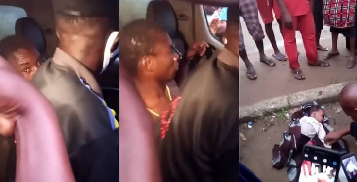 Mad Man Caught With Dead Baby In Abia State (Video)