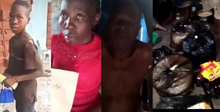 Good samaritans donate food items and cash to family of young boy who picked food from the dustbin (Video)