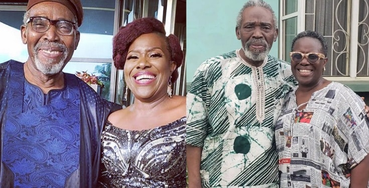 """My husband is not dead"" - Joke Silva reacts to rumors about Olu Jacob's death"