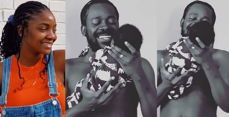 Simi shares adorable video of her hubby singing to their baby