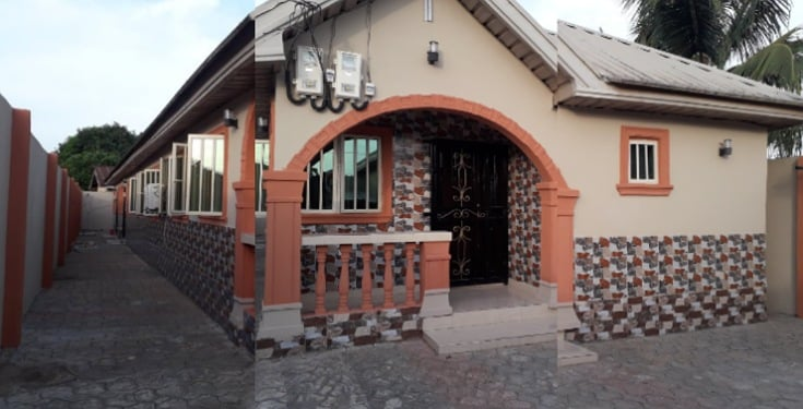 Nigerian man shows off the house his dad built after 10 years