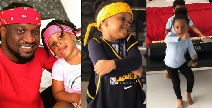Paul Okoye hypes his little daughter as she shows off her rap skills