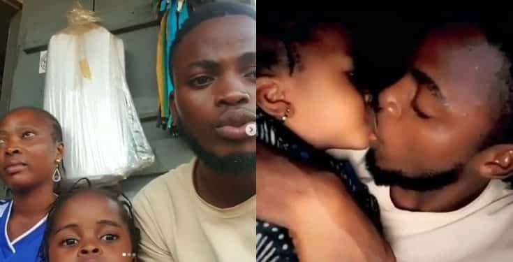 Man apologizes for sucking on his baby sister's lips (video)