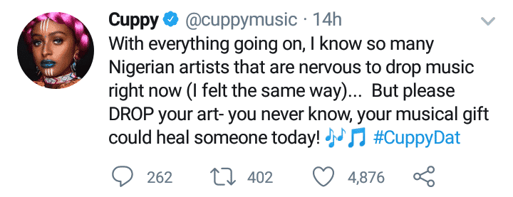 DJ Cuppy urges colleagues