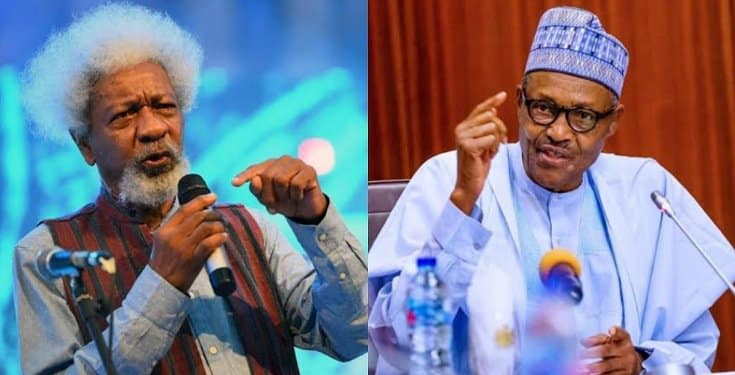 Wole Soyinka says Buhari is not in charge