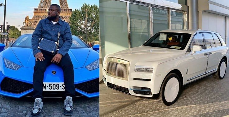 HushPuppi thanks God for his Rolls Royce
