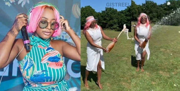 DJ Cuppy celebrates