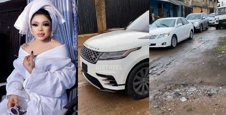 Bobrisky heads out to surprise his father