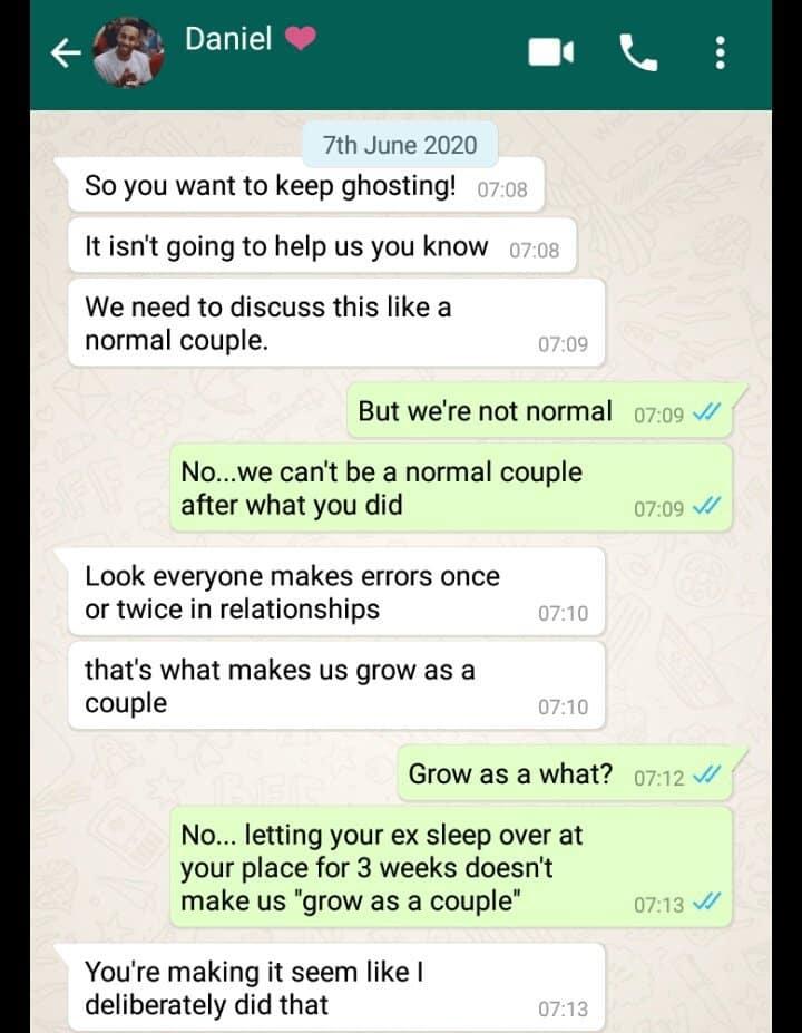Lady confronts boyfriend