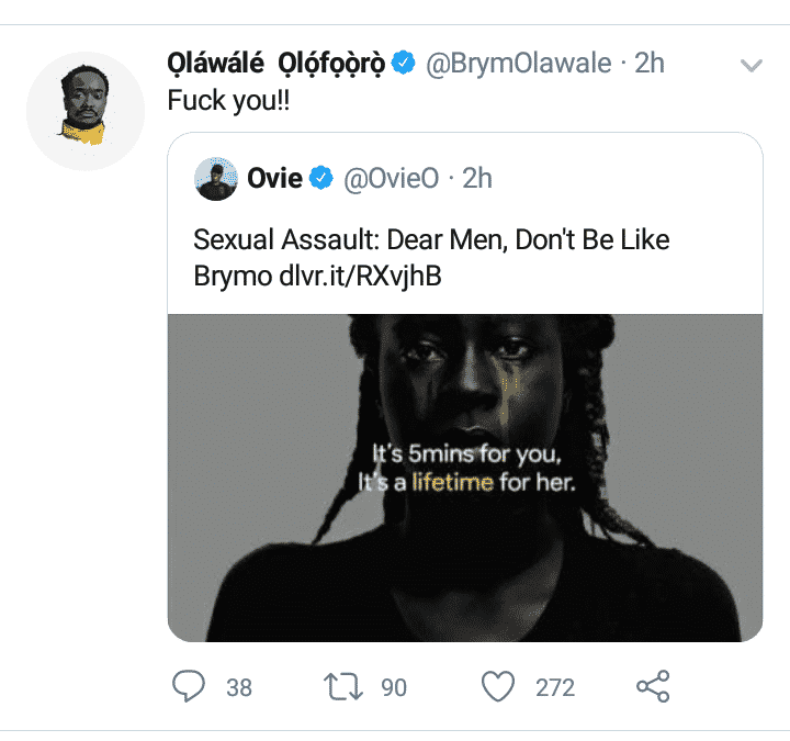 Brymo goes ballistic on blogger