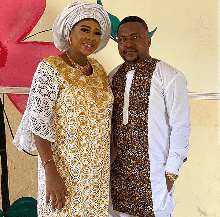 Ogungbe and his wives christen their baby