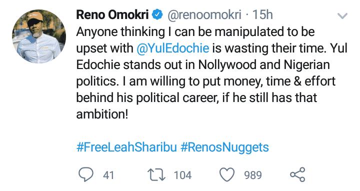 Reno makes peace with Yul