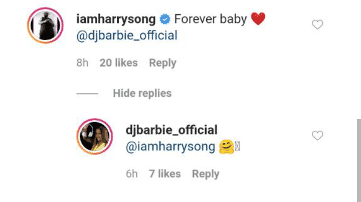 Harrysong dating DJ Barbie