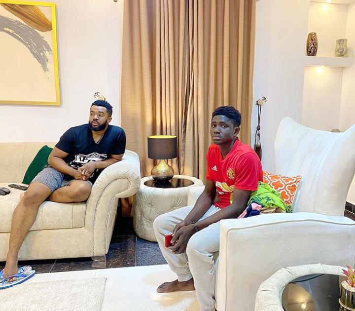 Williams Uchemba adopts boy