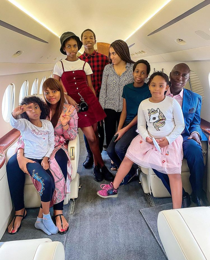 Regina Daniels and the Nwoko family