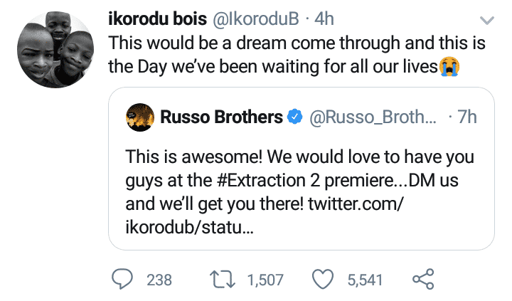 "Makers of ""Extraction"" invite Ikorodu Bois"