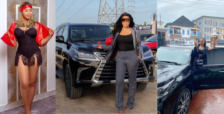 Actress Mimi Orjiekwe gets a brand new Lexus SUV (photos)