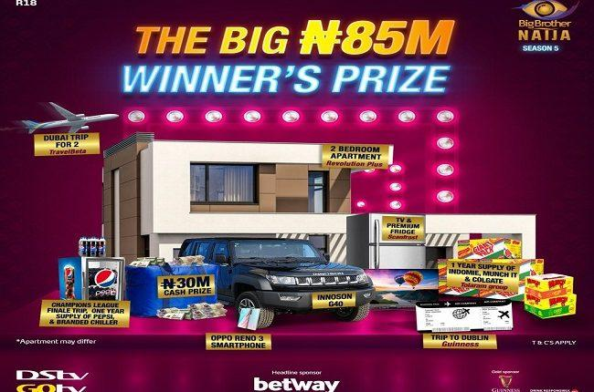 BBNaija Season 5 : MultiChoice Nigeria reveals N85m grand prize for winner