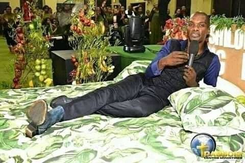 Pastor who fed grass to his worshippers, shows them what heaven looks like (Photos)