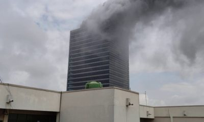 Fire guts World Trade Centre, Abuja (Video)