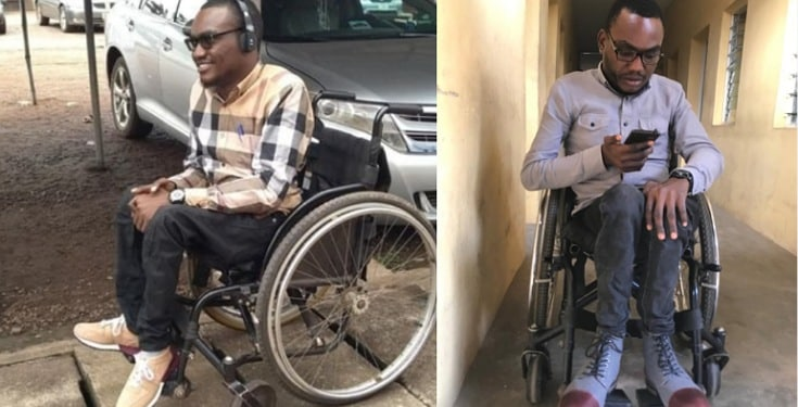 Physically challenged man calls out GTBank for keeping him under the sun