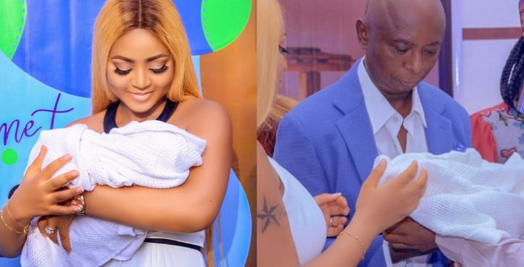"""Fresh as a blooming flower"" - Regina Daniels' gushes over her son, Munir Ned-Nwoko"