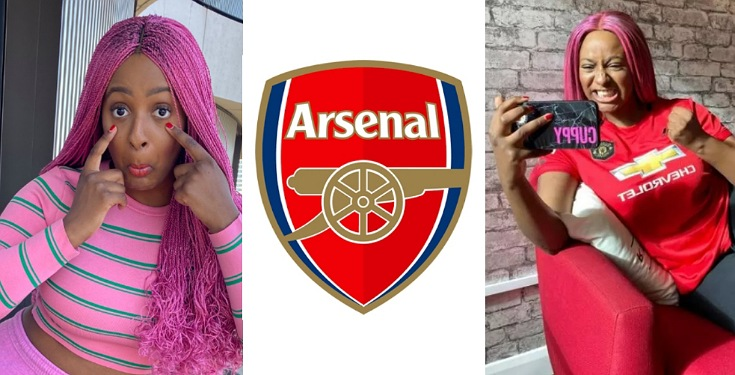 DJ Cuppy mocks Arsenal after losing 2-1 to Tottenham