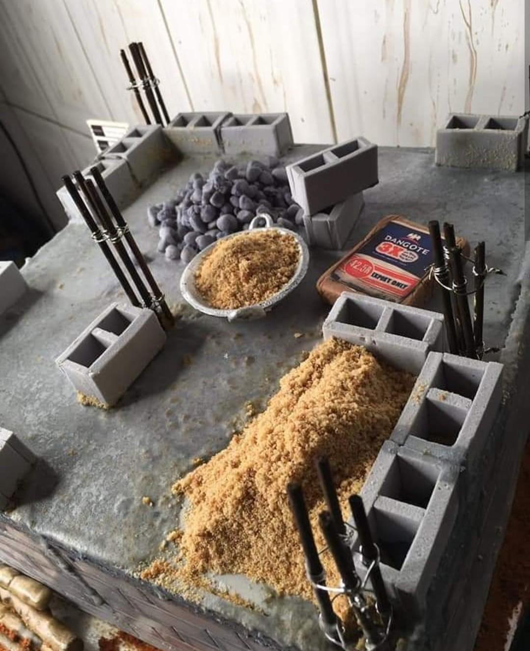 Talented Baker Shares Photos Of Cake Designed To Look Like An Uncompleted Building